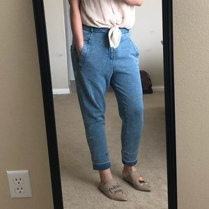 Helmut Lang Jogger Jeans High Rise Drop crotch